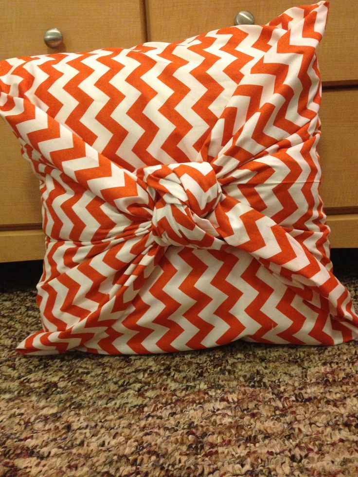 No-sew pillow cover need orange brown and teal & 47 best No-sew Pillow love images on Pinterest | No sew pillows ... pillowsntoast.com