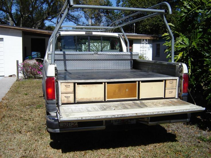 Homemade truck bed slide truck bed slide truck drawers vehicle storage systems - Diy truck bed storage ...