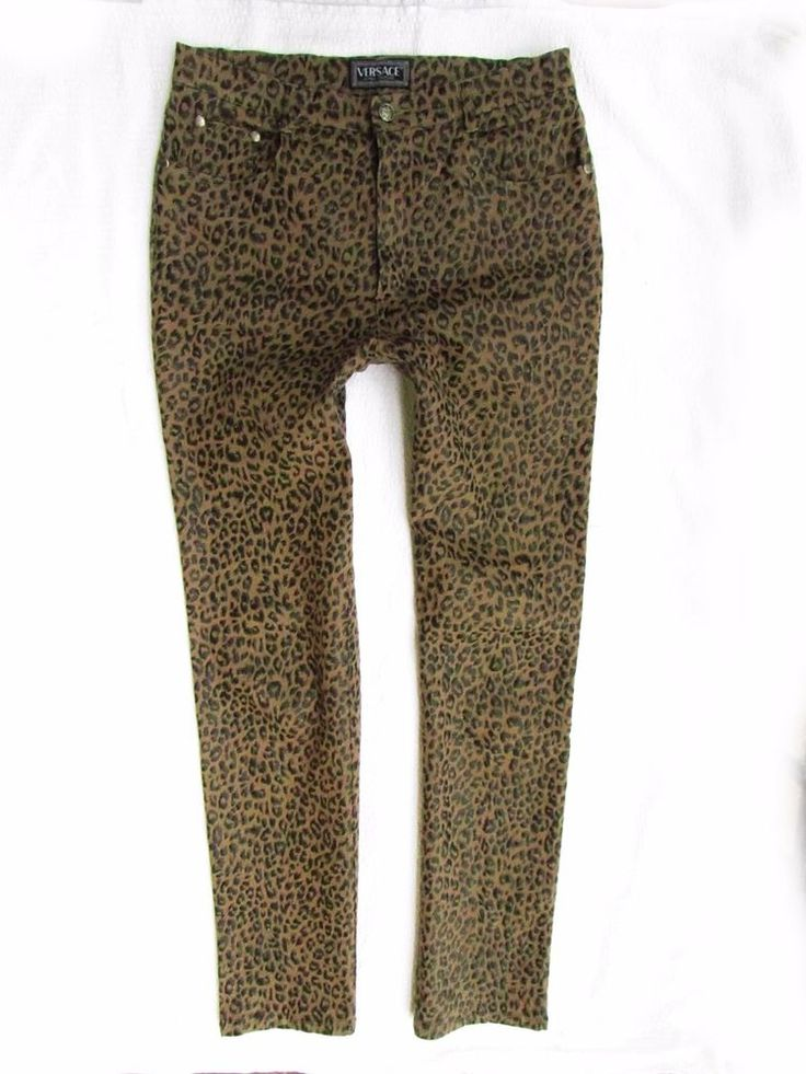 ladies  pants Versace Couture print panther coated  W32