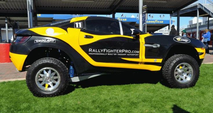 If you're the type of person that prefers to make their own path regardless of where the paved road ends, then the Rally Fighter might be the car for you. http://www.rallyfighterpro.com