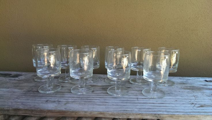 Set of 10 Mid Century Danish Modern Wine Glasses by CreekStreetUnique on Etsy