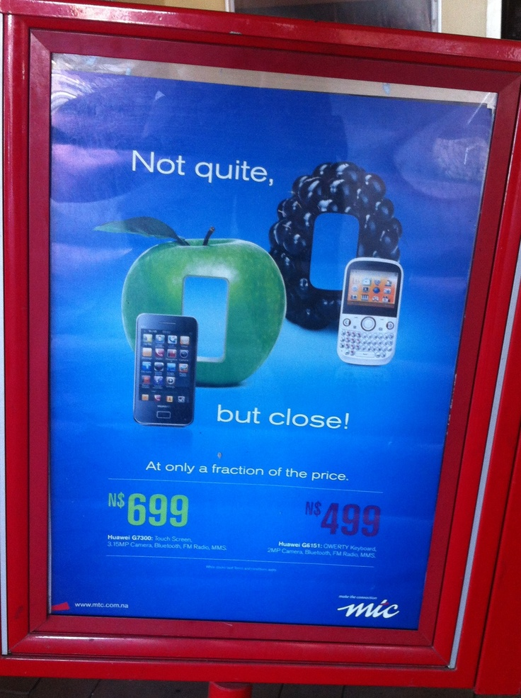 I saw this sign outside a cellphone shop in Katima Mulilo, Namibia.   At least they're honest.. :-)