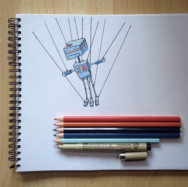 Frozen Robot by Johannes Koski