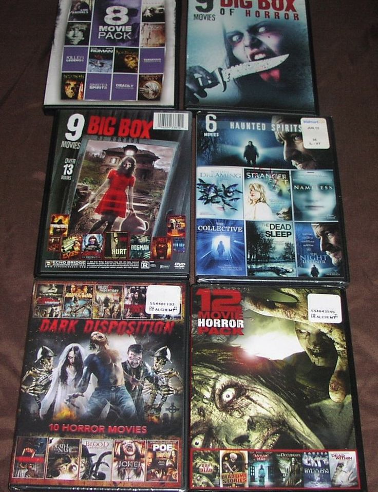 Lot 6   PG-13 Horror Dvd Movies