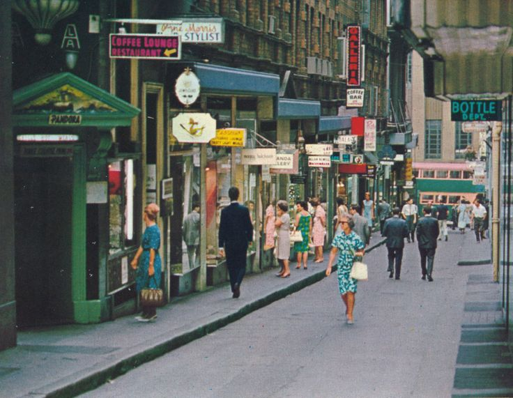 Rowe St, c1960s. Image sourced from the collection of the Rowe St Historical Society. Sydney