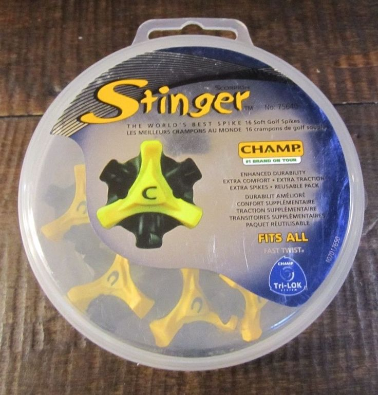 Champ Stinger Golf Spikes Set of 9 replacements or spares golf shoes nine spikes #Stinger