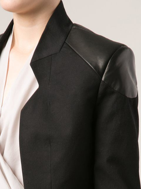 Unconditional пиджак с кожаными вставками по плечам