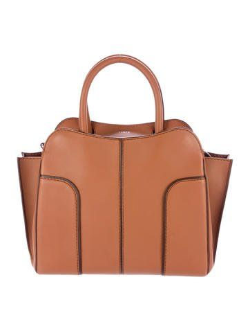 fc240793b5 Cognac leather Tod's Medium Sella bag with silver-tone hardware, dark brown  trim, optional shoulder strap, dual rolled handles, brown suede interior,  ...