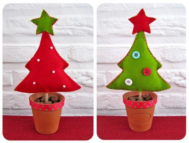 Leuke kerstboompjes van vilt