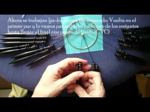 ▶ Bolillos. Realización de la Estrella de Ulrike Voelcker (Araña ojo de Horus) - YouTube