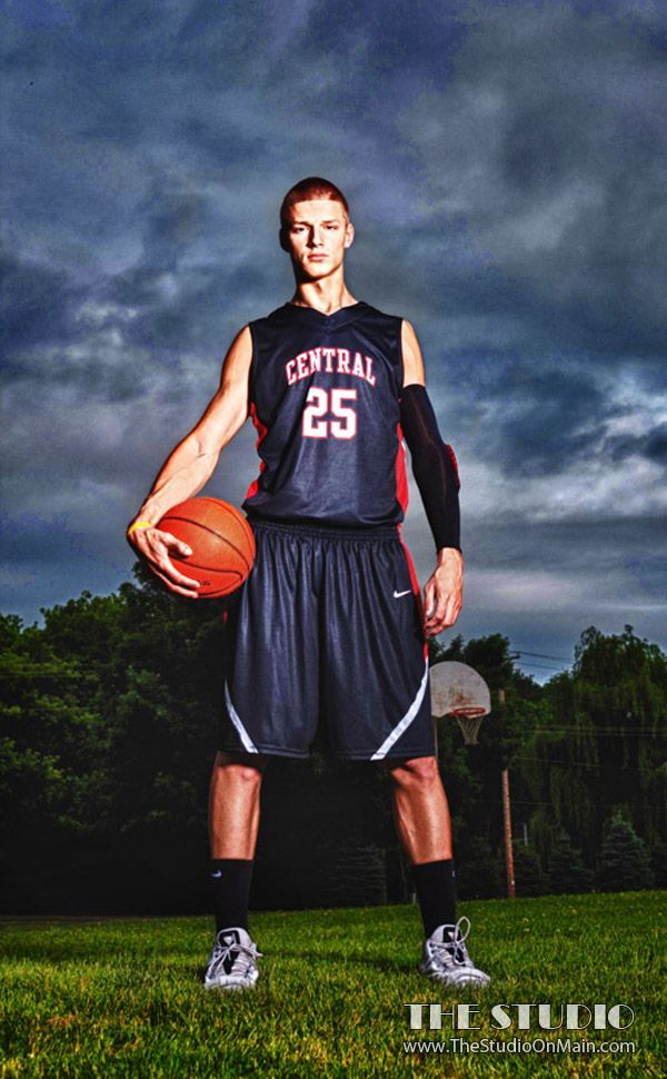 ©The Studio • La Crosse, WI www.TheStudioOnMain.com  Boy • Senior • Pictures • Portraits  Basketball • Sports