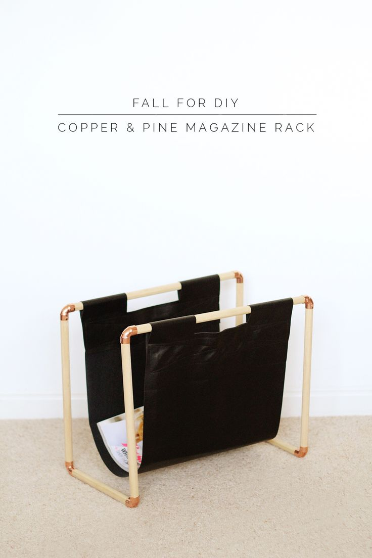 Fall For DIY Copper and Pine Magazine Rack #copper #cuivre #rame #kupfer #cobre