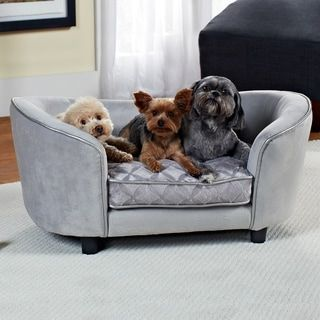 Enchanted Home Pet Quicksilver Pet Bed | Overstock.com Shopping - The Best Deals on Pet Sofas & Furniture