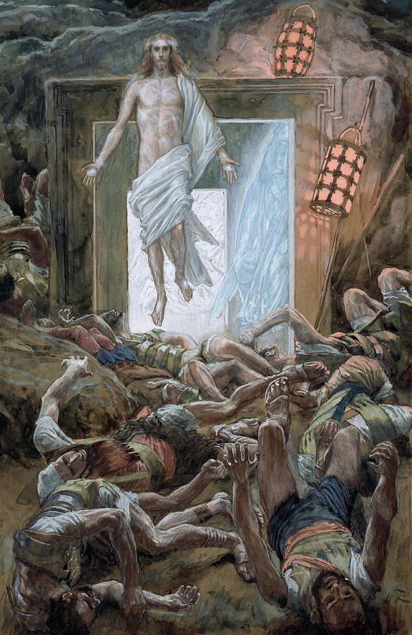 The Resurrection by James Tissot {c.1886-94} ~ Jesus