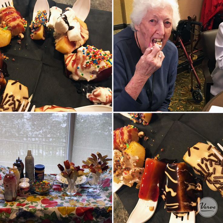 The candy apple cart at Richmond Hill Retirement was a hit! Everyone has a sweet tooth when it comes to apples covered with delicious toppings.