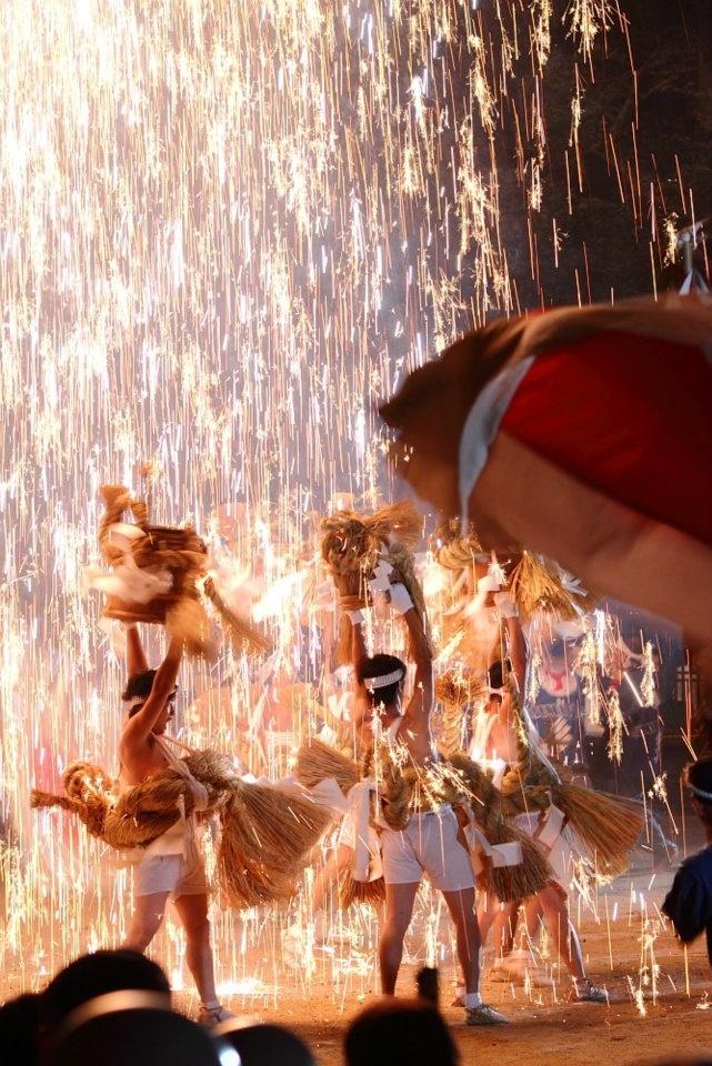 飯田市 七久里神社 七久里神社秋季祭典宵祭り(裸祭り)