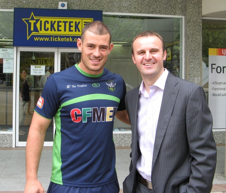 with Raiders Captain Terry Campese