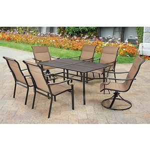 Walmart, Valancia 7 Piece Sling Patio Dining Set, Seats 6 $400