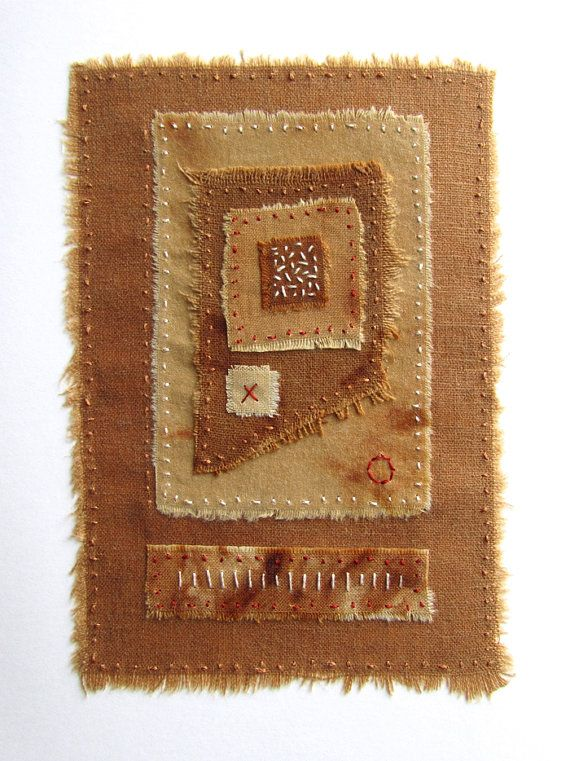 Hand Embroidered Textile Art Collage on by VictoriaGertenbach