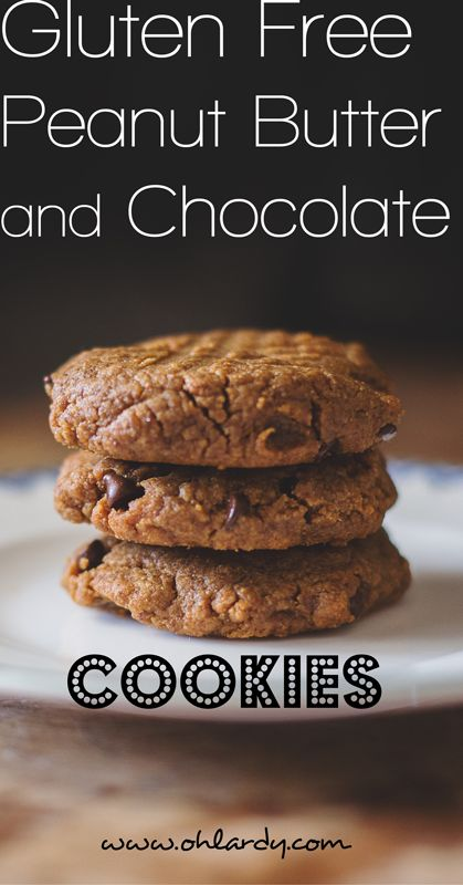 Gluten Free Peanut Butter and Chocolate Cookies - Oh Lardy!