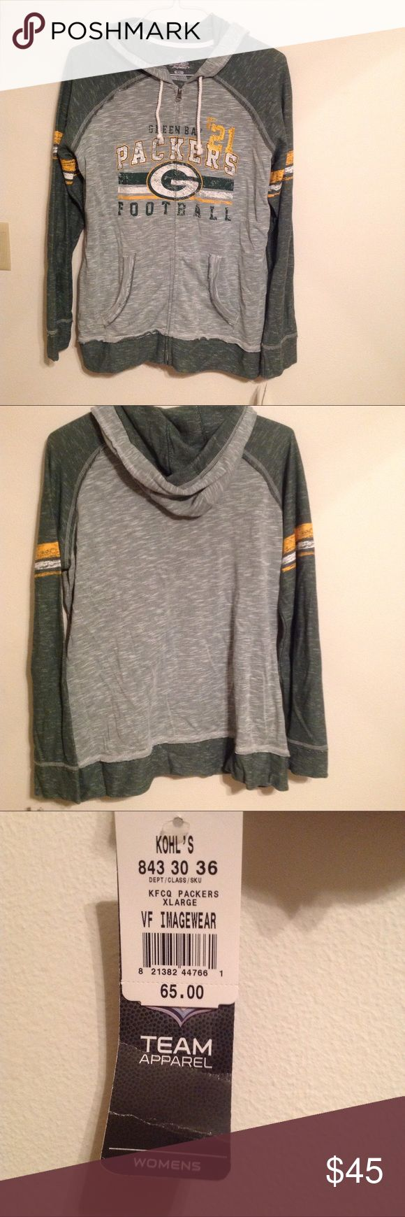 Green Bay Packers Hoodie Never worn, spaced dyed, Green Bay Packers Hoodie. I love it, just need the money so, on Poshmark it goes! Majestic Fan Fashion Tops Sweatshirts & Hoodies