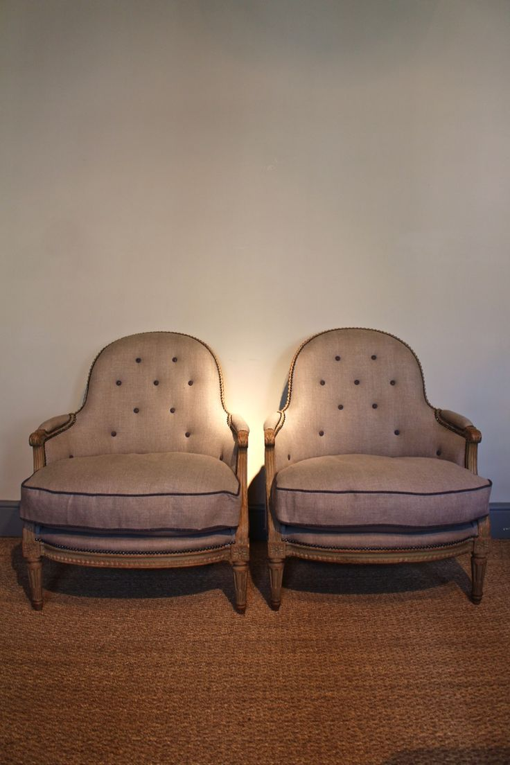 Very comfortable pair of 1950s french reclining leather armchairs - A Lovely Quality Pair Of French Louis Xvi Style Armchairs