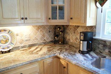 Neptune Bordeaux Granite Kitchen Backsplash