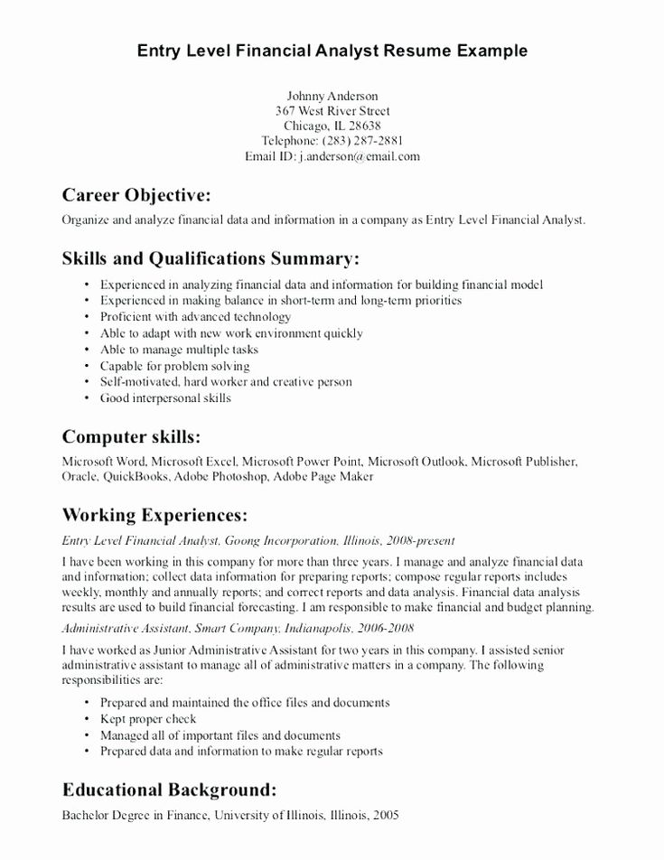 Entry level resume no experience elegant 15 entry level it