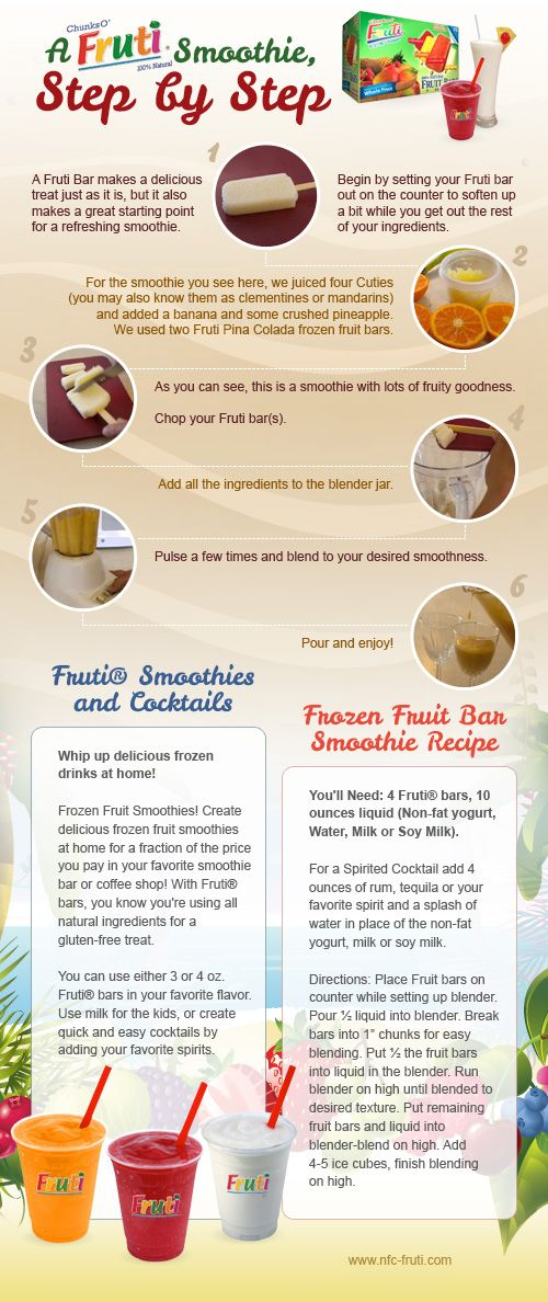 how to make a fruit smoothie