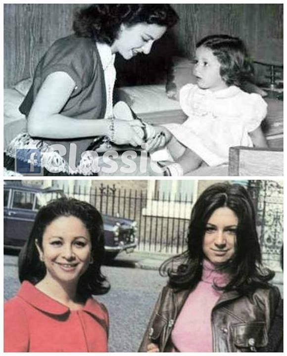 Faten hamama and her daughter