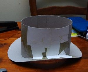 how to make a cardboard top hat