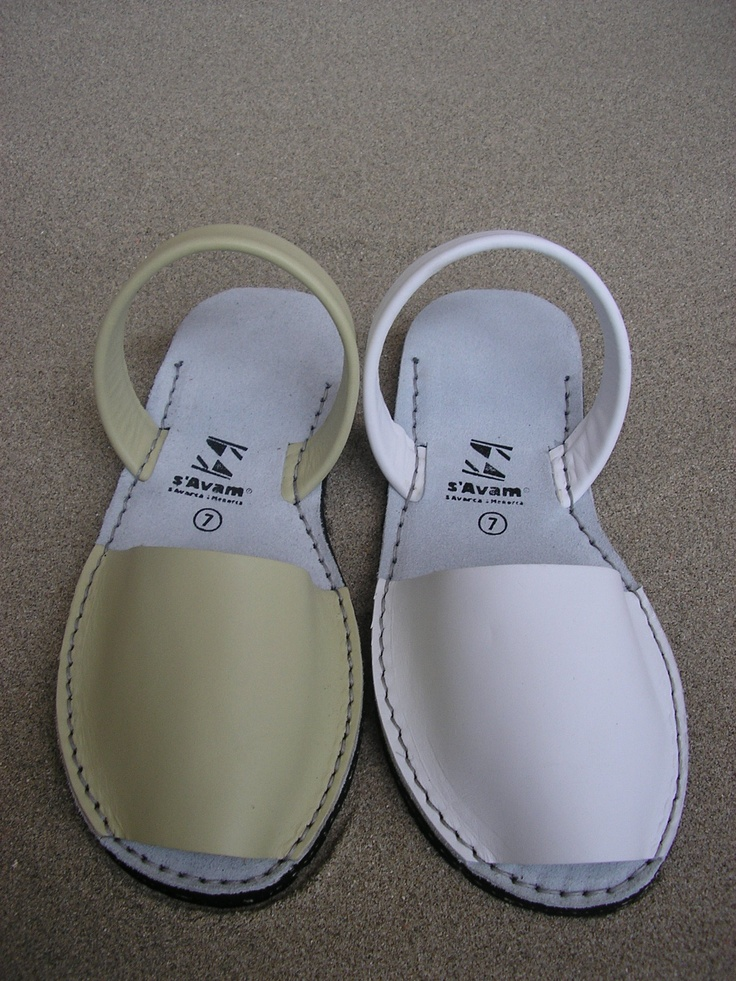 Handmade avarcas imported to the U.S. from Menorca. 3Soles