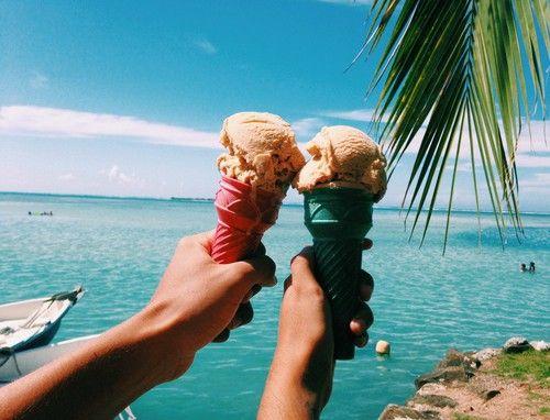 Ice cream | via Tumblr ☂  ☻. ☂. ☻