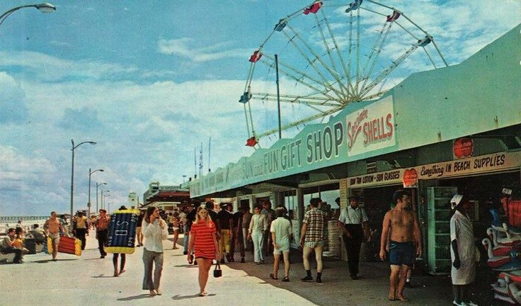 Old Boardwalk Area At Jax Beach 1970s I Remember That