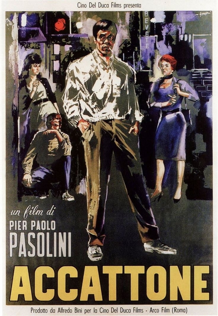 """""""Accattone"""" (1961). Country: Italy. Director: Pier Paolo Pasolini. Cast: Franco Citti, Silvana Corsini, Franca Pasut, Paola Guidi, Adriana Asti, Mario Cipriani, Roberto Scaringella, Adele Cambria"""
