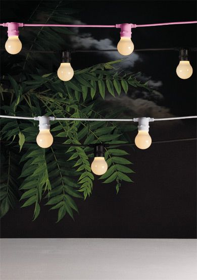 17 Best images about Outdoor lights on the web on Pinterest ...:Seletti's Bella Vista outdoor lighting system (a cable available in one of  six colours,,Lighting