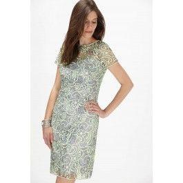 Cachet Two Tone Floral Lace Dress