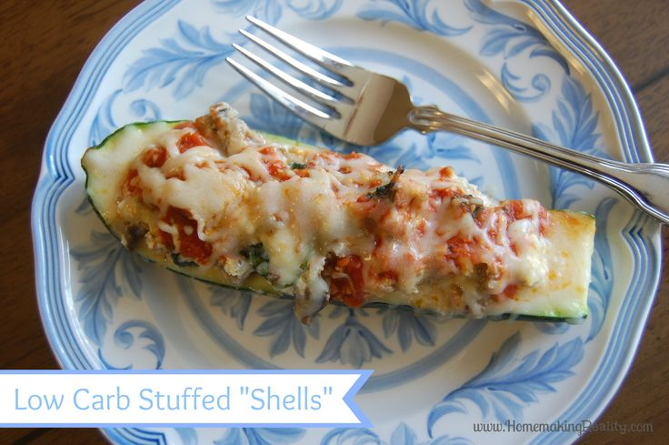 Italian Stuffed Zucchini Shells (low carb and still delicious!)