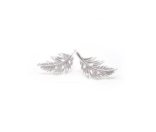 Lover's Tempo Feather Earrings - Silver