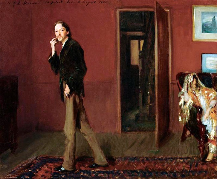 Robert Louis Stevenson (and his wife Fanny). John Singer Sargent, 1885