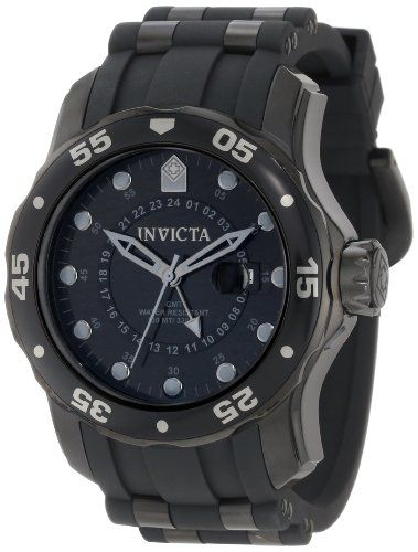 Invicta Men's 6996 Pro Diver Collection GMT Black Dial Sport Watch Invicta http://www.amazon.com/dp/B003MYUSQW/ref=cm_sw_r_pi_dp_CCbnub1Y9JMPP