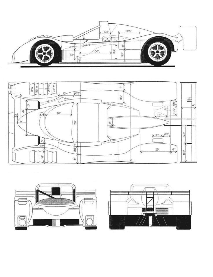 ferrari 333 sp blueprint