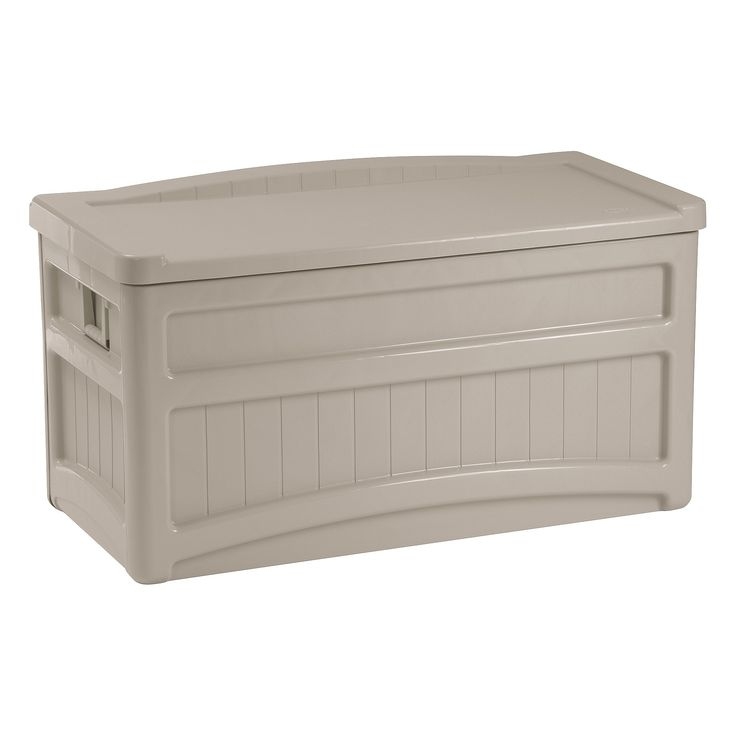 Deck Box With Seat And Wheels 73 Gallon - Taupe (Brown) - Suncast