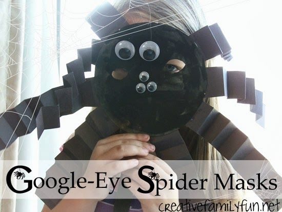 Googly-Eye Spider Masks... ~ Creative Family Fun
