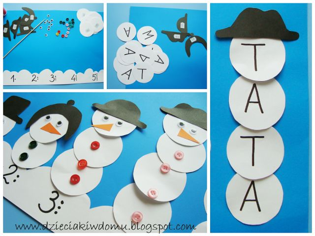 snowman craft - projekty bałwankowe