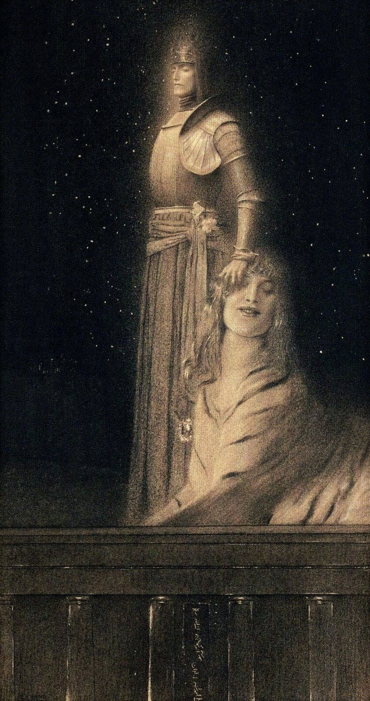 Fernand Khnopff | The Sphinx, 1889: