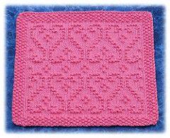 Scrolled Hearts Dishcloth pattern by Rachel van Schie
