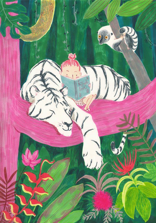 White Tiger  Illustration - Simona Ciraolo