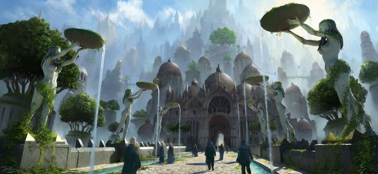 Houses of the holy, Southern Empire, Piotr Dura on ArtStation at https://www.artstation.com/artwork/w3xZw