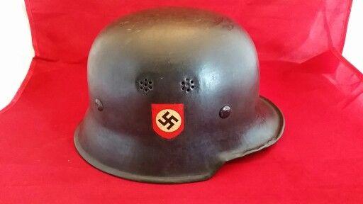WW2 Vet bring back Nazi Police Helmet